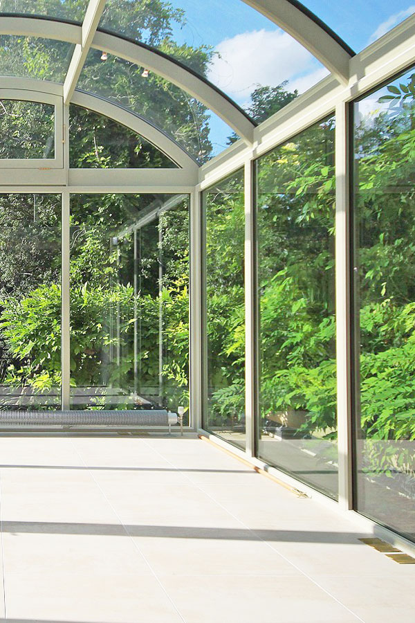 conservatory with metal frame